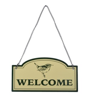 """Sign Welcome. Aluminum, metal, LC, OS"""