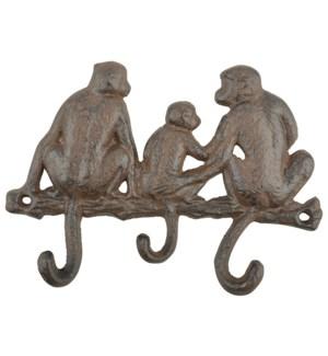 Monkey tail hooks