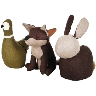 Doorstop wildlife animals ass. -  18.6x4.3x12in.
