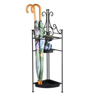 Corner umbrella stand (folding) -  10.6x10.6x37.7in.