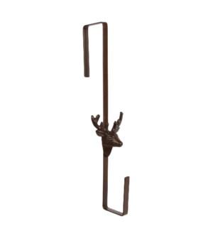 Door wreath hanger deer