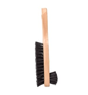 Wooden boot cleaning brush