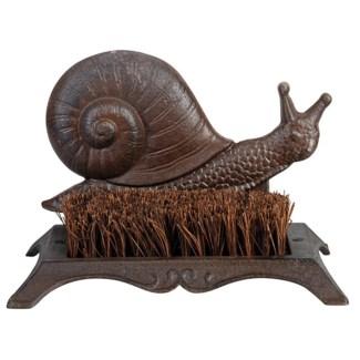 Bootscraper snail. Cast iron, coconut fibre. 25,3x15,8x16,0cm