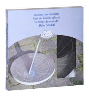 """Slate sundial text round. Slate. 25,0x25,0x1,6cm. oq/6,mc/6 Pg.96"""