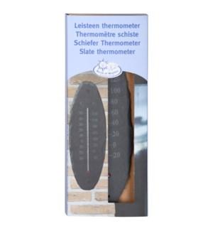 Slate thermometer oval S. Slat