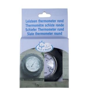Slate thermometer round. Slate