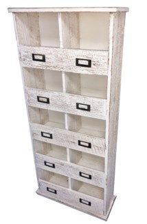 10 Cubby Shelf, Antique White