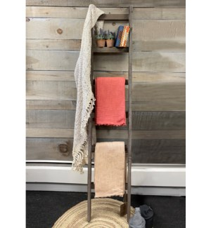 6 Step Rustic Wooden Ladder