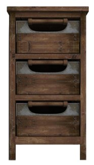 Rustic Wood Drawer Cabinet 16x13x28 inches *Made from very old recycled wood for best rustic effect*