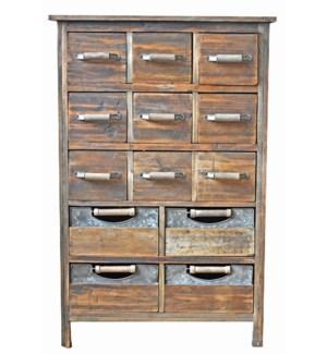 13 Multi Drawer Rustic Wood Ca