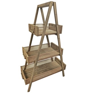 3 Tiered Rustic Wood