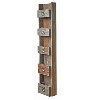 Rustic Wood Magazine Organizer 12x6x57 inches *Made from very old recycled wood for best rustic effe