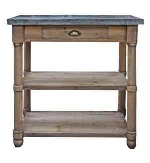 Rustic Wood & Zinc Table