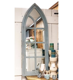 Chapel Mirror, Rustic Blue, 19.2x1.18x50.4 inches