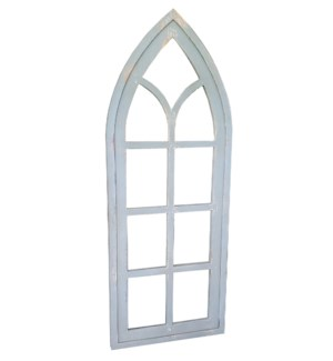 Chapel Mirror (Frame Only), Rustic Blue, 19.2x1.18x50.4 inches