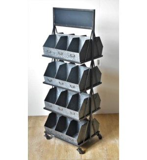 Metal 24 Cubby Displayer