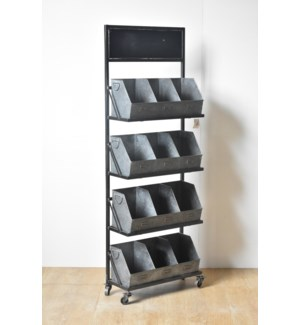 Metal 12 Cubby Displayer