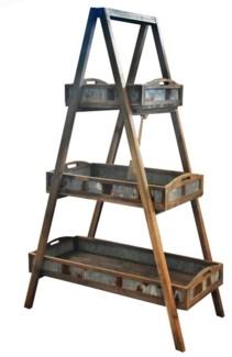 Wood Ladder Planter