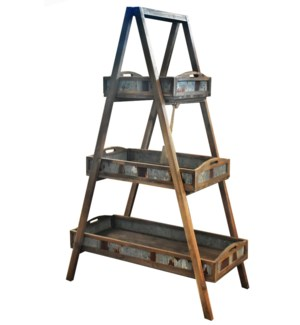 Wood Ladder Planter