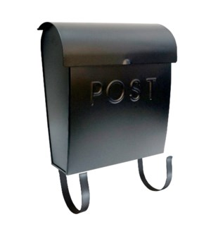 Black Euro Mailbox POST