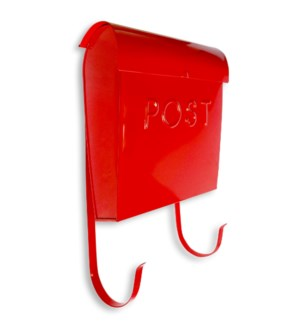 Euro Mailbox Red  With POST