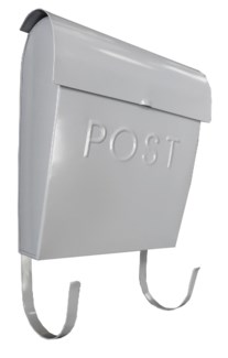 Euro Post Mailbox, Grey, 11 x 4.5 x 12 in
