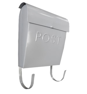 Euro Post Mailbox, Grey, 11 x 4.5 x 12 in