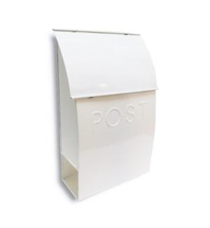 Milano Pointed Mailbox White