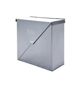 Chicago Silver Mailbox,10x10x4inch