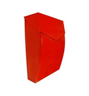 Bradly Steel Mailbox Red