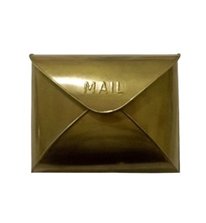 Antique Brass Envelope Mailbox