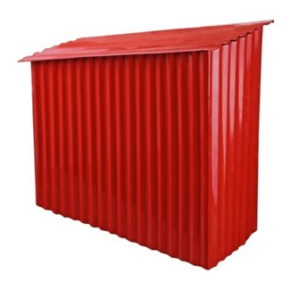 Farm Shed Mailbox Red, 12.3x12.3x4.5 Inches
