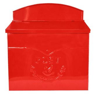 Chelsea Post Mailbox, Red - 11.5x4.8x13 in