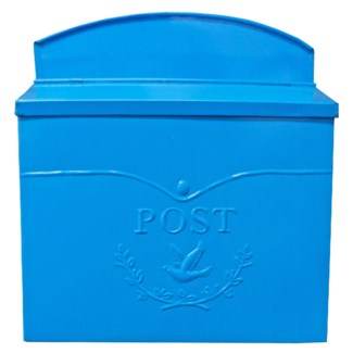 Chelsea Post Mailbox, Lt. Blue - 11.5x4.8x13 in
