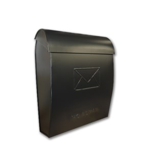 Sylvia Large NO ADMAIL Euro Mailbox Black