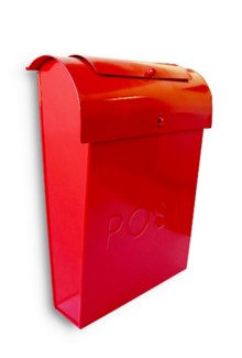 Emily POST Mailbox Red Lid access. 10.6x3.9x13.9inch. On Sale 50% off original price of $35.00