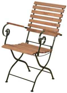 Foldable chair wood/metal/green. Steel, beech wood. 56,8x64,0x90,0cm. oq/1,mc/1 Pg.109    *Cushion