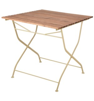 Foldable Table Wood/Metal/Crea