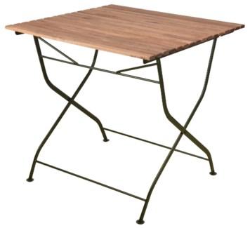 Foldable table wood/metal/green. Steel, beech wood. 78,4x78,0x77,0cm. oq/1,mc/1 Pg.109