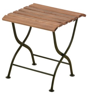 Foldable sidetable wood/metal/green. Steel, beech wood. 38,0x38,0x44,0cm. oq/1,mc/1 Pg.109