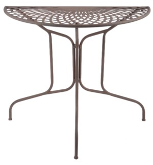 Half round table metal. Metal. 79,8x40,1x70,0cm. oq/1,mc/1 Pg.109