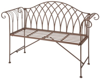 Garden bench metal. Metal. 130,5x46,0x90,0cm. oq/1,mc/1 Pg.109    *Cushions not included