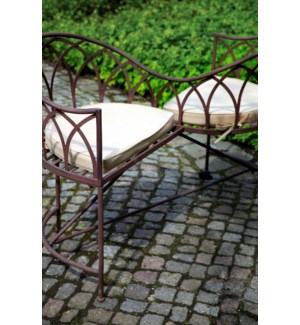 Lovers bench metal. Metal. 114,5x73,0x79,0cm. oq/1,mc/1 Pg.109  *Cushions not included - FD