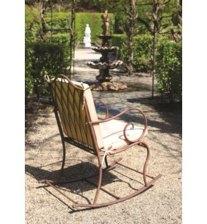Rocking chair metal. Metal. 56,0x83,0x97,5cm. oq/1,mc/1 Pg.109    *Cushions not included