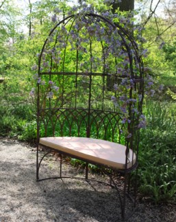 Gazebo with bench metal. Metal. 120,3x61,5x184,9cm. oq/1,mc/1 Pg.109    *Cushions not included
