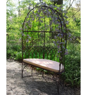 Gazebo with bench metal. Metal