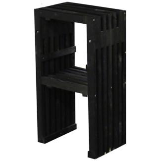 Bar chair wood black -  15.7x12.8x27.6in.