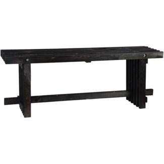 Bench wood black S -  47.2x12.8x17.9in.