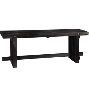 Bench wood black S -  47.2x12.8x17.9in.
