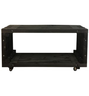 Lounge table wood black -  47.2x12.8x23.6in.